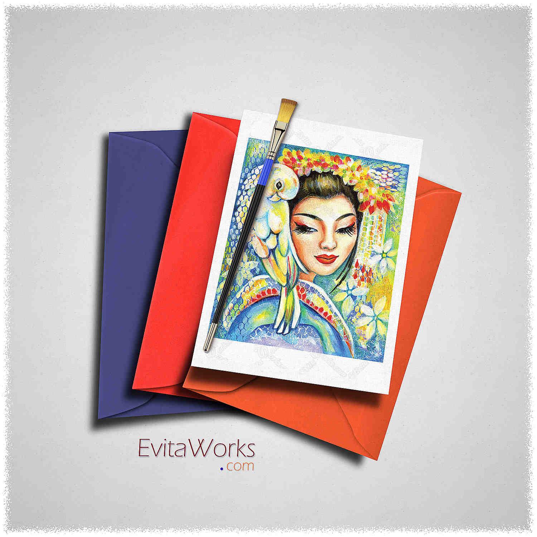 Geisha 01 Card ~ EvitaWorks