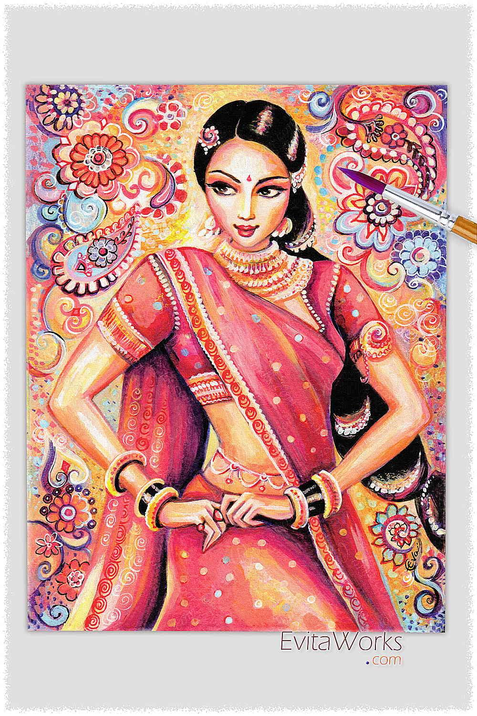 Открытка с индийскими мотивами