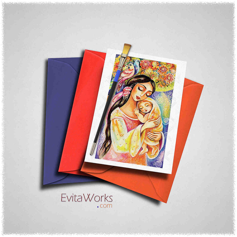 Mother Child 11 Card ~ EvitaWorks