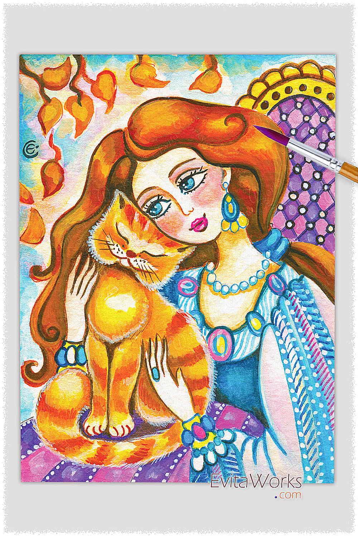 Cat Lady 04 ~ EvitaWorks