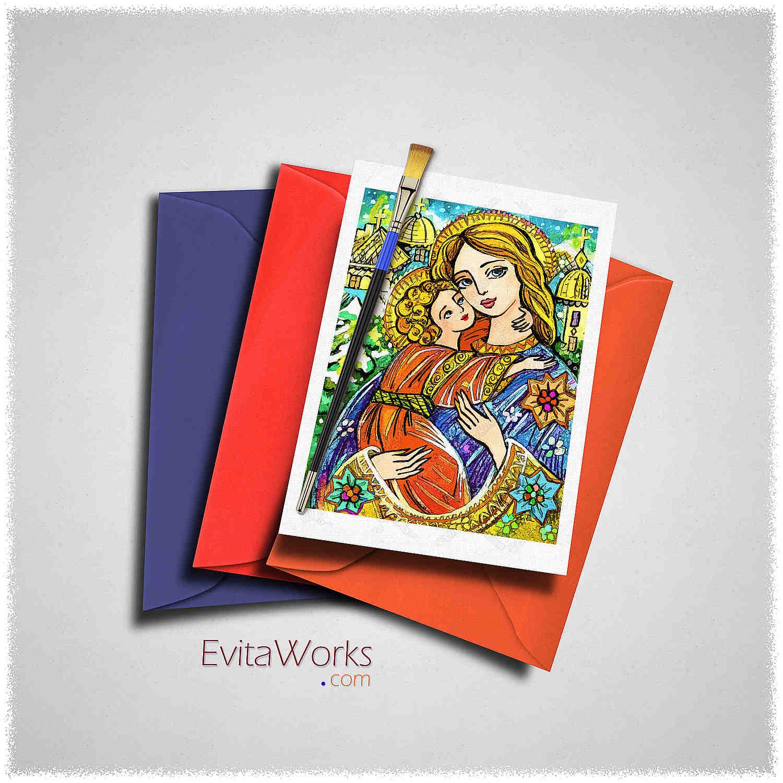 Mother Child 14 Card ~ EvitaWorks
