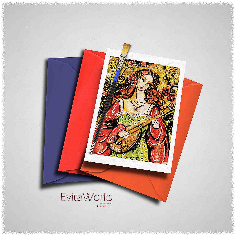Music Folk 01 Card ~ EvitaWorks