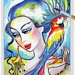Parrot Lady 02 ~ EvitaWorks