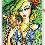 Parrot Lady 07 ~ EvitaWorks