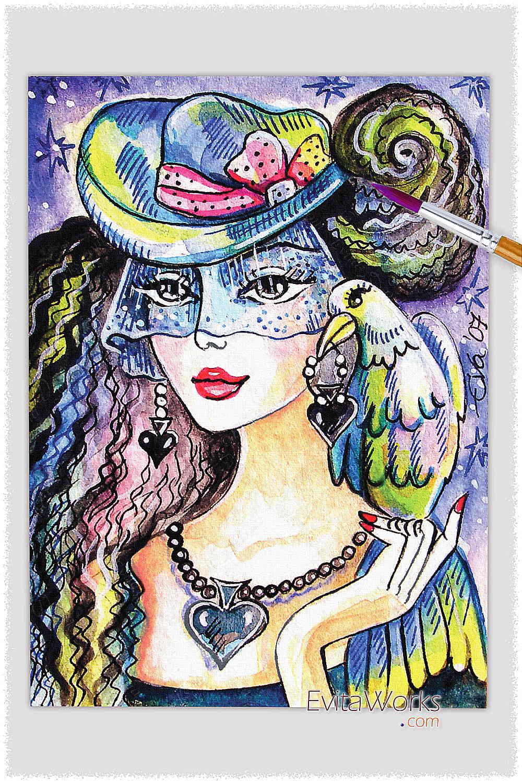 Parrot Lady 08 ~ EvitaWorks