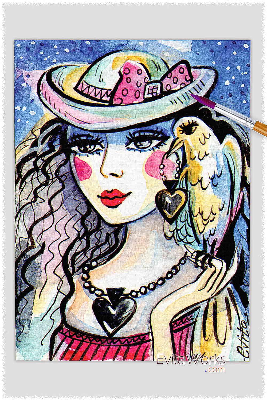 Raven Lady 11 ~ EvitaWorks