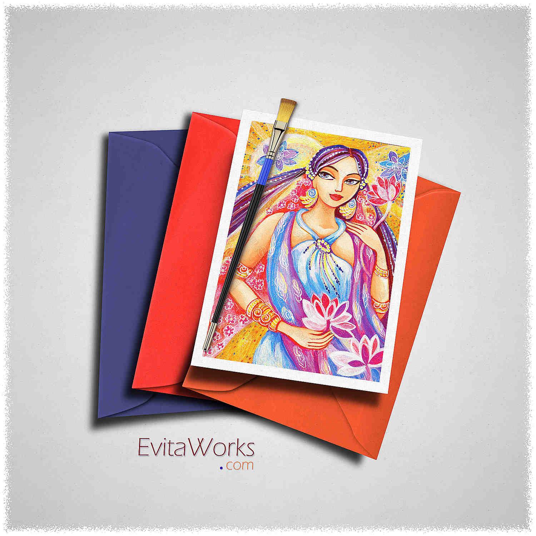 East Woman 01 Card ~ EvitaWorks