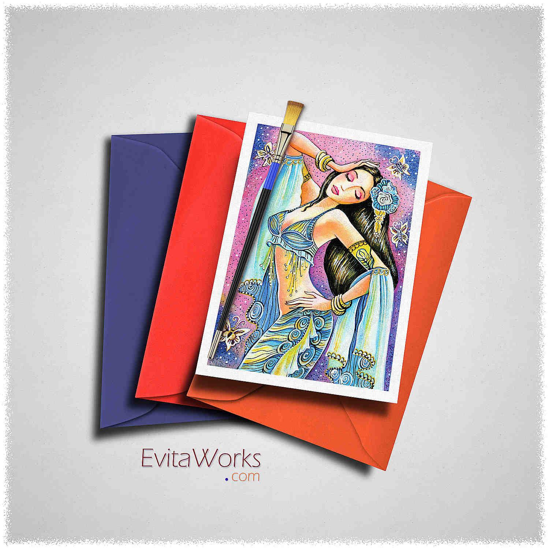 East Woman 04 Card ~ EvitaWorks