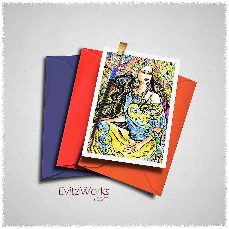 East Woman 06 Card ~ EvitaWorks