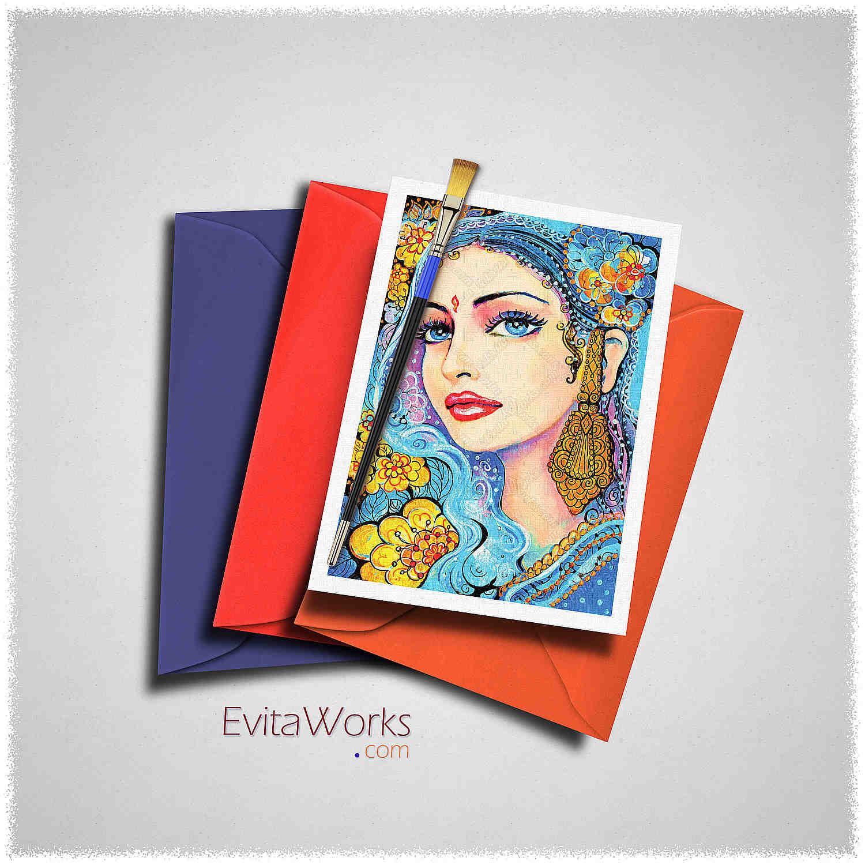 East Woman 18 Card ~ EvitaWorks