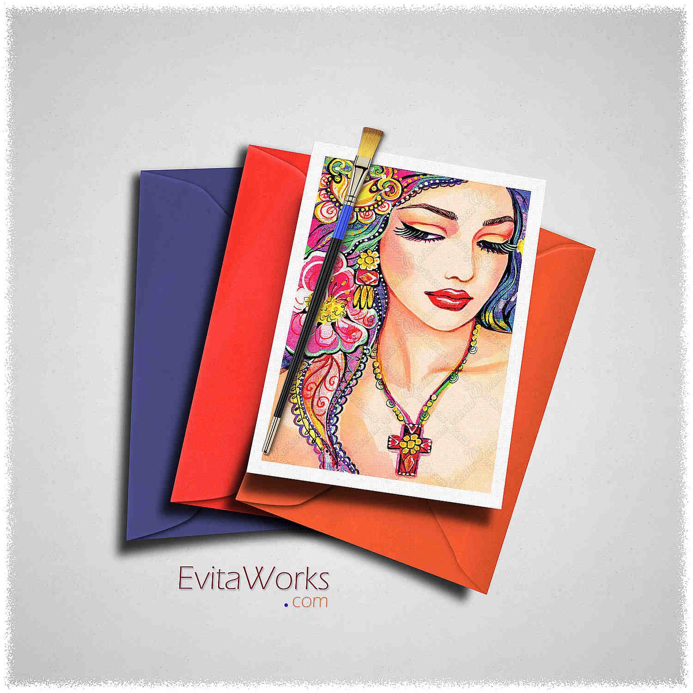 East Woman 21 Card ~ EvitaWorks