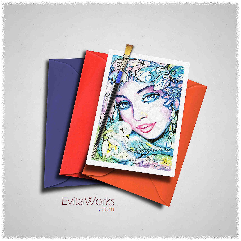 Exotic Visage 04 Card ~ EvitaWorks