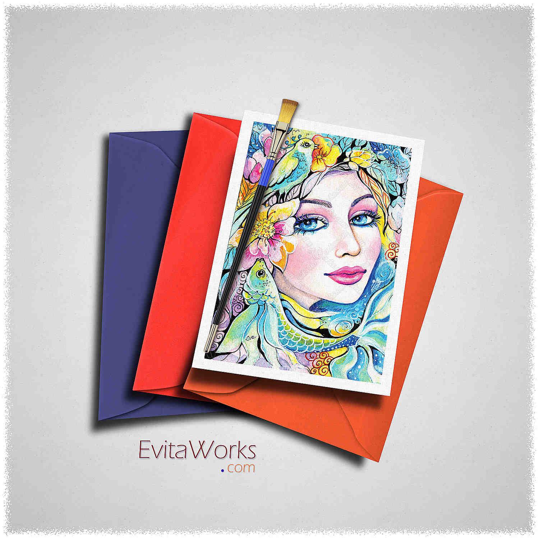 Exotic Visage 06 Card ~ EvitaWorks