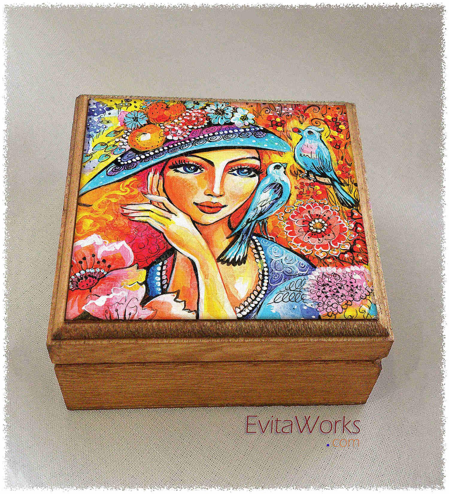 Flower Lady 01 Boxsq ~ EvitaWorks