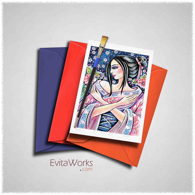 Geisha 05 Card ~ EvitaWorks