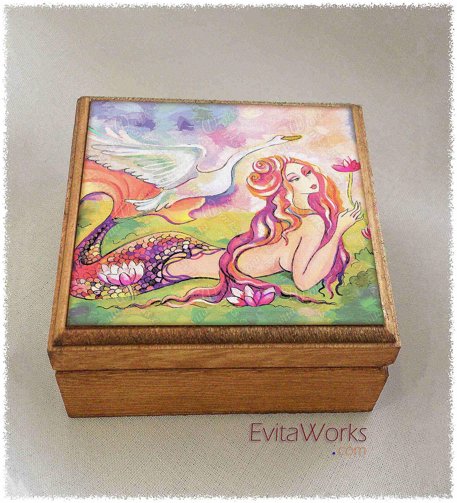 Mermaid 04 Boxsq ~ EvitaWorks