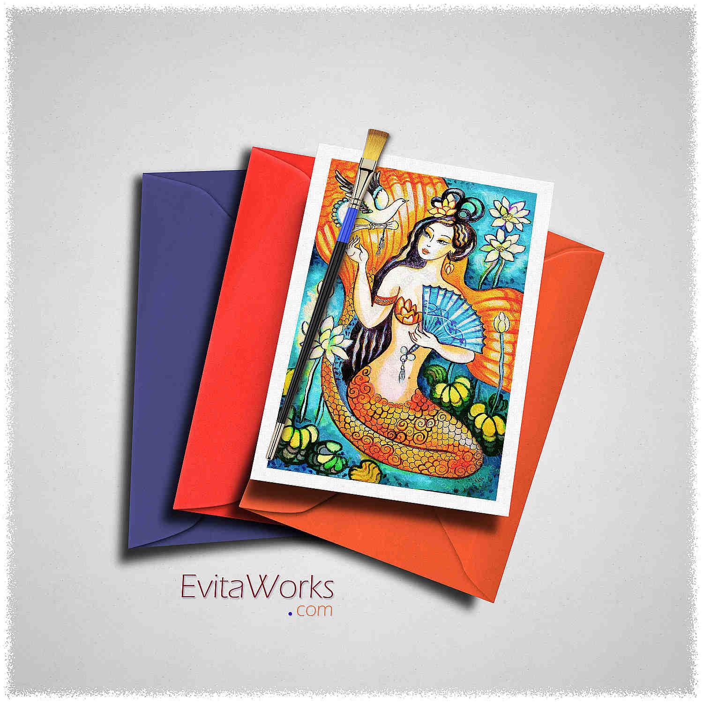 Mermaid 09 Card ~ EvitaWorks