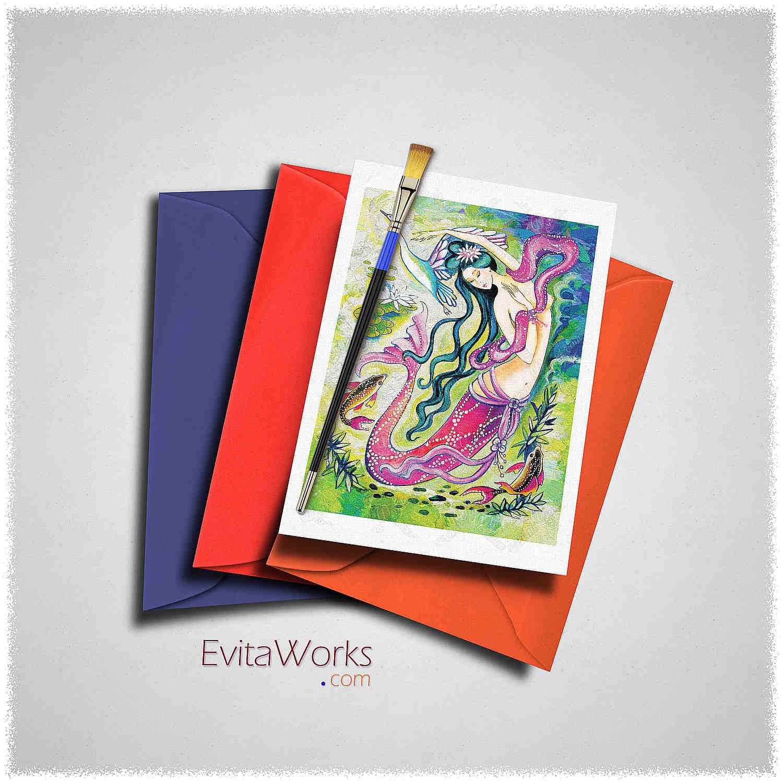 Mermaid 35 Card ~ EvitaWorks