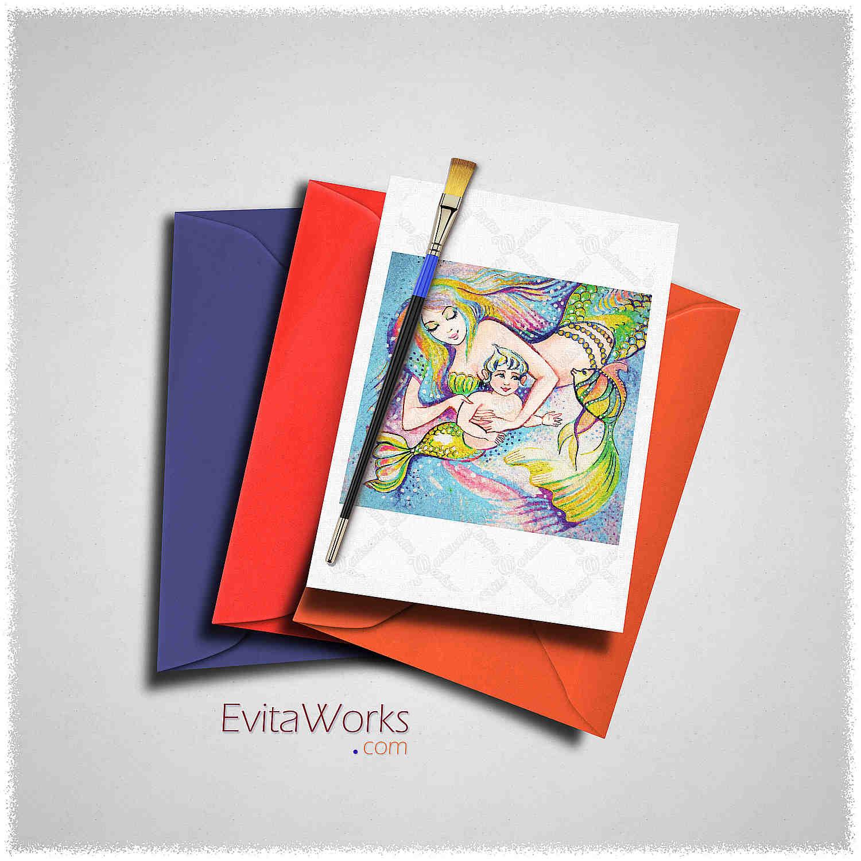 Mother Child 01 Card ~ EvitaWorks